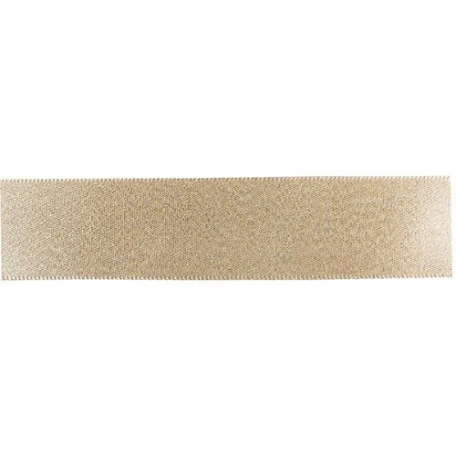 Double Faced Satin Ribbon - Gold Glitter 25mm